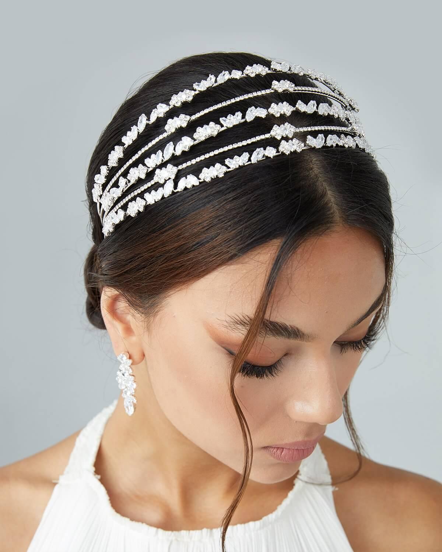Tocado de novia Marisha - Próximamente podrás conseguirlo en nuestra boutique de Caracas, Venezuela - Bridal Room Boutique: tu tienda de novias