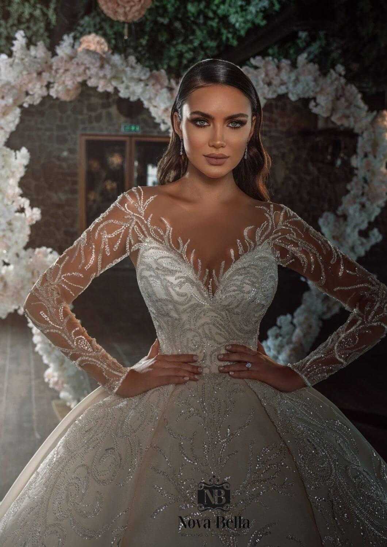 El modelo Samantha es uno de los más hermosos vestidos de novia en Venezuela. Lo tenemos disponible en nuestra boutique de novias en la Isla de Margarita
