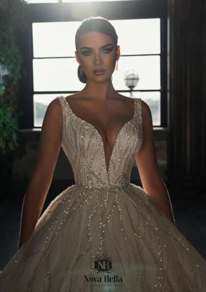 Nova Bella es una reconocida marca de diseño de moda nupcial para novias en Europa - En Bridal Room Boutique somos distribuidoras exclusivas en Venezuela, en nuestras boutiques de la Isla de Margarita y próximamente en Caracas