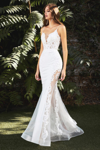 Vestido de novia Faviana, escote en V profundo, sin mangas y tirantes finos, así de encantador es este vestido de novia, consígue en la Isla de Margarita y próximamente en Caracas, Venezuela