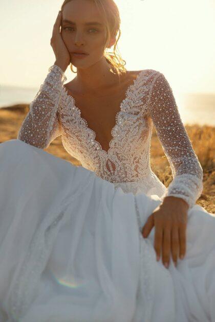 Vestidos de novia en Venezuela - Majestuoso vestido Tifanny de la marca de diseño de moda y alta costura Lucesposa - Somos distribuidoras oficiales de vestidos para bodas en Venezuela