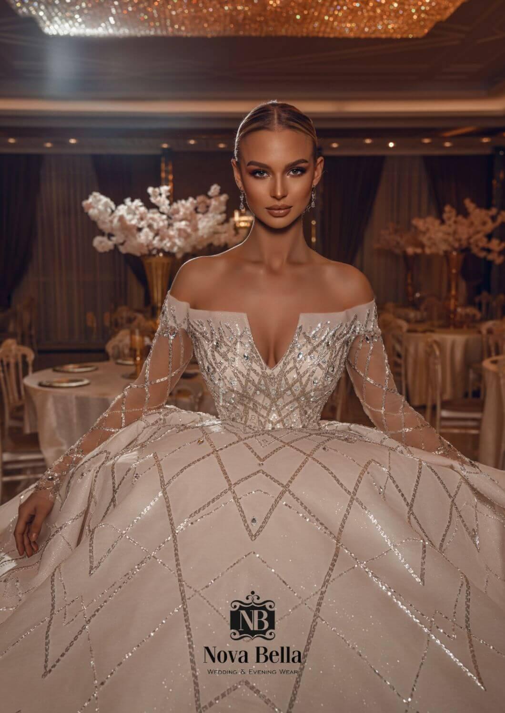 Importamos en exclusiva los más lujosos vestido de novia de los diseñadores Nova Bella - Haz de tu boda el día más feliz de tu vida con nosotras