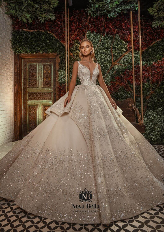 Diseños de vestidos de novia, impactantes, majestuosos, llenos de finos y delicados detalles bordados a mano por expertos diseñadores artesanos nupciales - Pida tu cita de novias en Bridal Room Boutique