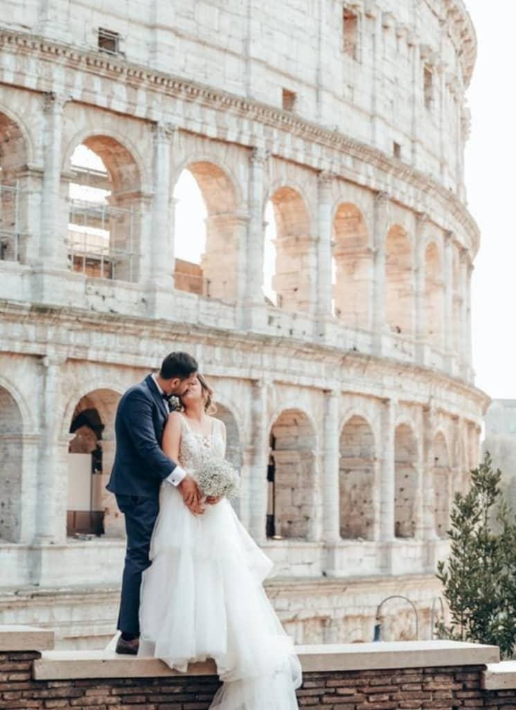 Nur Osman - Vestidos de novias desde Venezuela para el mundo - Una espectacular boda en Roma, Italia - Casos de éxito de Bridal Room Boutique