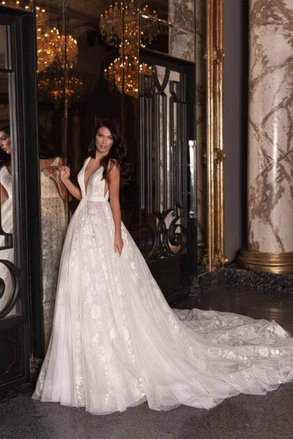Tul, encajas y lentejuelas conforman este espectacular vestido de novia en Caracas y Margarita, Venezuela - Modelo Alicia by WONÁ Concept
