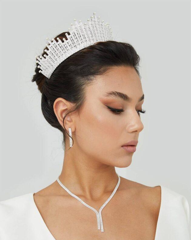 Tocado de novia: Enza Crown