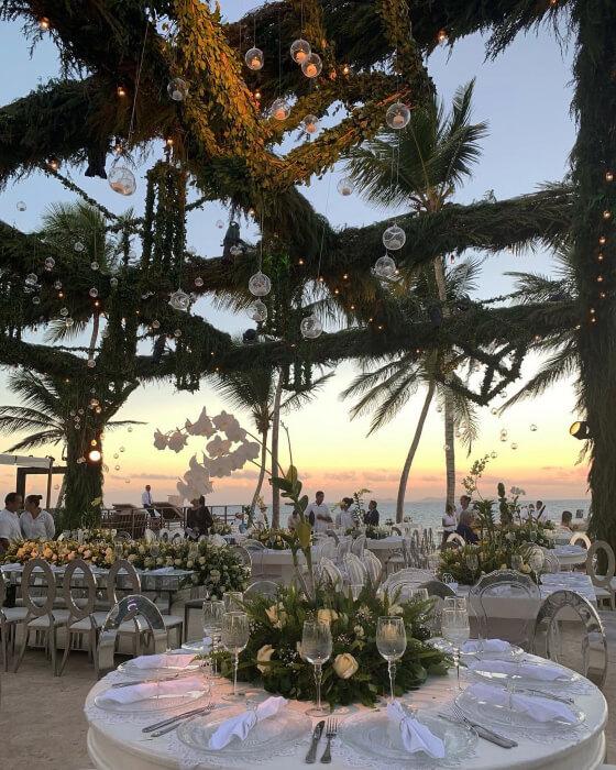 Impresionantes arreglos florales para bodas en Margarita, Venezuela - Exótico decoraciones