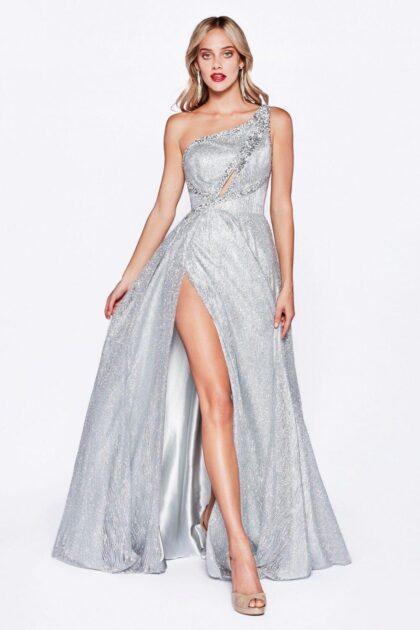 Vestido de fiesta color silver disponible solo bajo pedido - Evening Dress Boutique - Vestidos de gala en Caracas, Venezuela