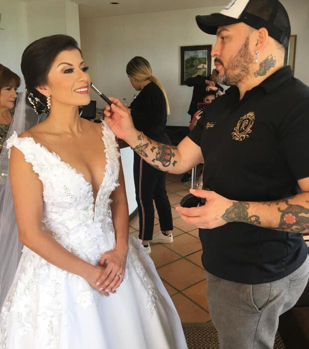 Maquillaje y peinados para novias en Margarita, estilista de bodas Rafael Palencia