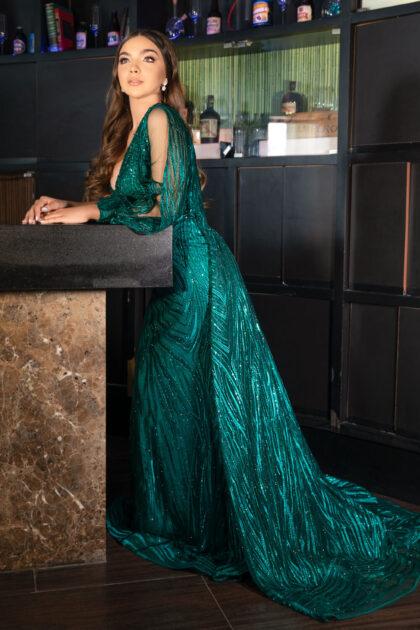 Vestidos de fiesta con falda removible y diseño de escote asimétrico, consigue tu vestido de gala en Caracas, Venezuela y Margarita con Evening Dress Boutique