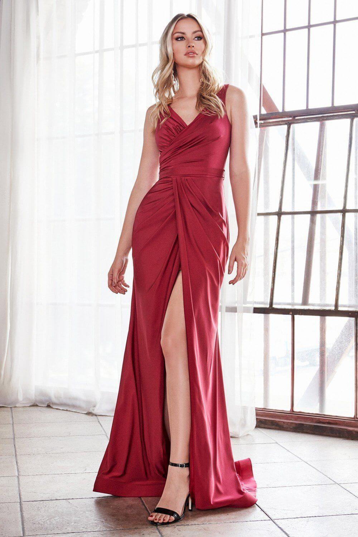 Evening Dress Boutique - Vestidos de gala en Margarita, Venezuela - Vestido de fiesta largo color burgundy