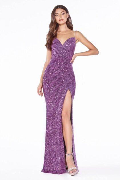 Vestidos de gala con glitter, sé la estrella de la fiesta y haz brillar tu belleza con este hermoso vestido de fiesta