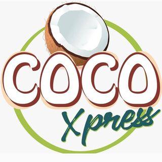 Logo de Coco Xpress · Estación de cocos fríos para bodas, cocadas para eventos al aire libre