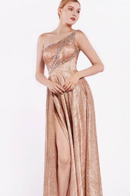 Vestidos de fiesta con manga asimétrica - Diseño innovador de vestidos de gala en Venezuela - Evening Dress Boutique