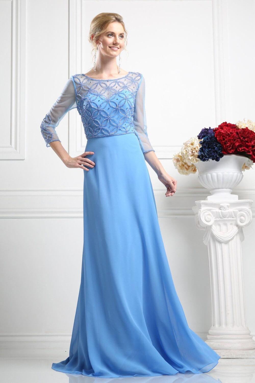 El color Perry Blue de este vestido de gala en Venezuela se encuentra disponible únicamente bajo pedido - Reserva tu cita de vestidos de fiesta en Evening Dress Boutique