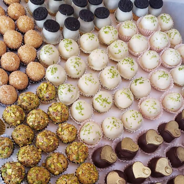 Exquisitos dulces árabes para bodas en Margarita, Venezuela - Ashta de Chocolate, dulcería artística