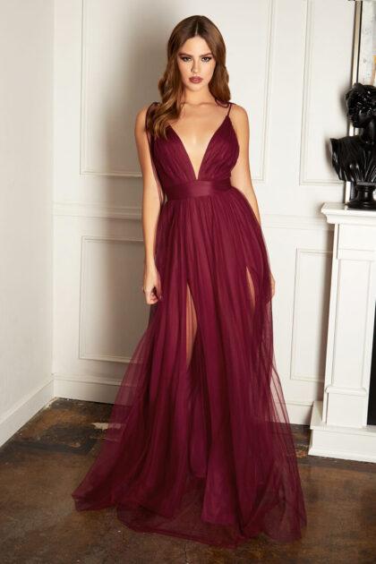 Vestidos de fiestas de graduación - Color rojo borgoña disponible solo bajo pedido: Evening Dress Boutique