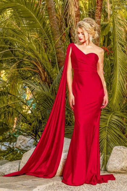 Luce un look inolvidable con este vestido de sirena de un hombro de estilo griego - Evening Dress Boutique