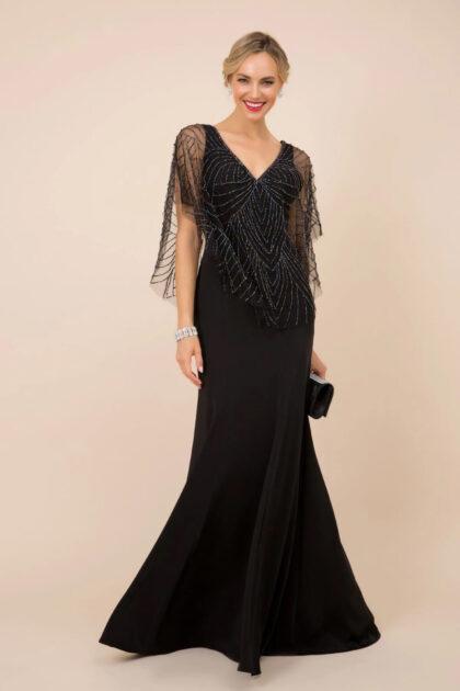 Luce un look señorial, elegante y solemne con este precioso vestidos de fiesta largo de color negro