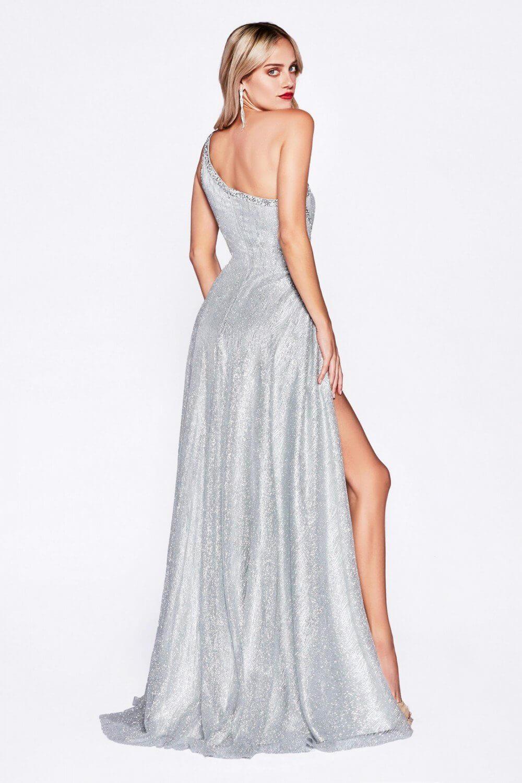 Vestido de gala color silver disponible solo bajo pedido - Evening Dress Boutique - Vestidos de fiesta en Margarita, Venezuela