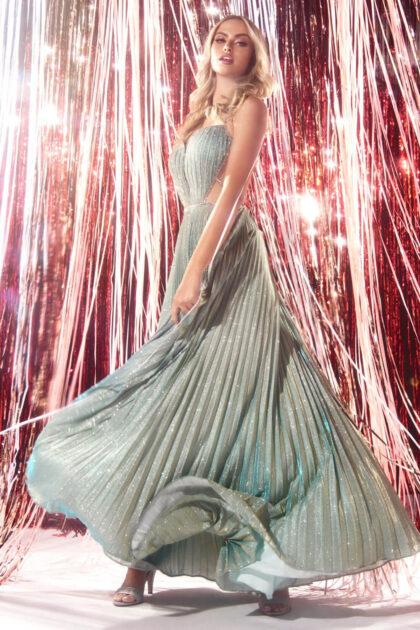 Vestidos de gala metalizados con brillo iridiscente en Caracas, Venezuela - Evening Dress Boutique: tienda de vestidos de fiesta