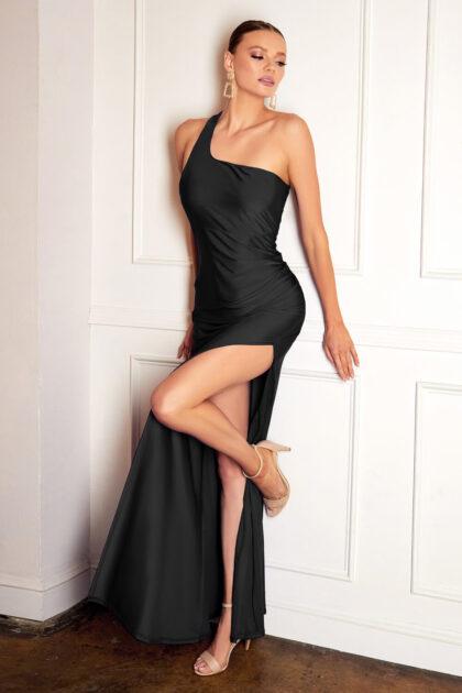 Diseños sofisticados de vestidos de fiesta largos en Venezuela - Vestidos de gala con escote asimétrico - Evening Dress Boutique