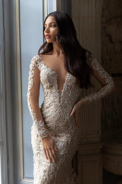 Vestidos de novia manga larga en Caracas, Venezuela - Bridal Room Boutique Pollardi ambassador para Caracas y Margarita