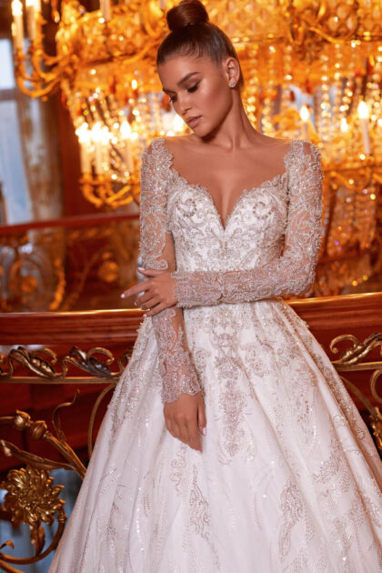 Las mangas espectaculares son una de las tendencias de la moda nupcial moderna en Venezuela - Bridal Room Boutique - Vestidos de novia lujosos y elegantes