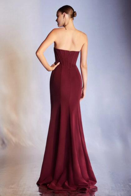 Evening Dress Boutique: colección de vestidos de fiesta corte sirena con espalda abierta y escote strapless de mangas removibles, consíguelo en Margarita y Caracas, Venezuela