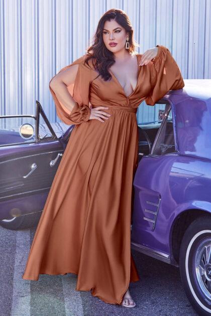 Vestidos de fiesta elegantes para gorditas en Venezuela, con Evening Dress Boutique podrás conseguir vestidos plus size tallas grandes XL, XXL, XXXL, 4XL y 5XL, consulta la disponibilidad