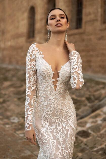 Vestidos de novia manga larga con encajes en Venezuela - Bridal Room Boutique, vestidos originales de Pollardi Fashion Group