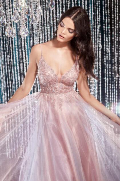 Evening Dress Boutique trae para ti este exclusivo y único vestido de fiesta largo evasé, multicolor - Sé la sensación de la noche con el look deslumbrante de este vestido de gala
