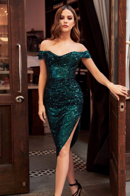 Vestidos cortos color verde esmeralda, consíguelos al mejor precio en nuestras tiendas boutique para damas en Venezuela