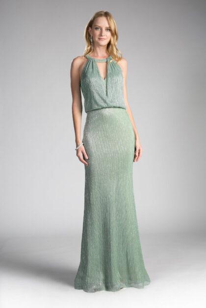 Vestidos de fiesta color verde manzana - Luce un look elegante y sofisticado con nuestros vestidos de fiesta - Modelo Hannele con escote halter