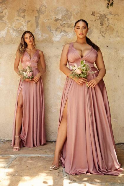 Vestidos de gala color rose gold, modelo espectacular, de la colección del 2021-2022 consíguelo solo en Evening Dress Boutique