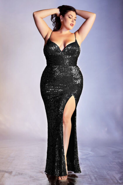 Hermoso vestido corte sirena, con detalles de encaje de lentejuelas. Consigue tu vestido de fiesta ideal para cualquier ocasiónº